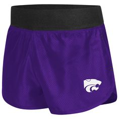 K-State Ladies Purple Mesh & Compression Shorts - Workout | K-State Super Store