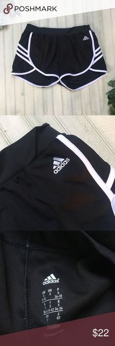Adidas Running Shorts Adidas Workout Running Shorts  •Size S, True to size. charts included. Would best fit 3/4 or 5/6! 27-28inch waist  •Gently Used, Excellent Used Condition  •Great for working out or causal attire, back to school staple!   Same to Next Day Shipping Don't Like the price? Make me an offer! Most prices are flexible!  ❓Have Questions! Ask Me! I'd love to help in any way possible! adidas Shorts