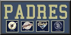 San Diego Padres Team Wool Blend Fabric Logos Throughout The Years With Team Name & Team Color Double Matting-Awesome & Beautiful Large Picture-Most MLB Team Banners Available-Plz Go Through Description & Mention In Gift Message If Need A different Team Art and More, Davenport, IA http://www.amazon.com/dp/B00LL1KLDS/ref=cm_sw_r_pi_dp_m9hDub1VEK7EP