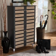 Bedroom Furniture For Sale, Shabby Chic Furniture, Furniture Outlet, Shoe Storage Cabinet, Storage Shelves, Storage Ideas, Brown And Grey, Dark Grey, Gray