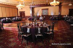 Orlando Weddings, Church Street Ballroom Weddings, Plum Wedding Reception Ideas, Orlando Wedding Rentals, Black Chiavari Chairs, A Chair Affair Blog