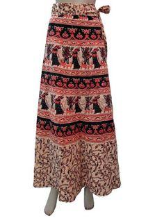 "Indian Wrap Around Long Skirt Gypsy Apricot Tribal Print Wrap Skirts, Length 40"" Mogul Interior,http://www.amazon.com/dp/B00CB95LIY/ref=cm_sw_r_pi_dp_jvXzrb5C1D5044A3"