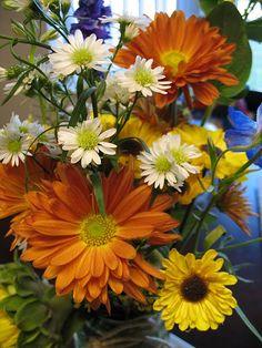 country wedding wild flowers