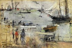 English Seascape by Berthe Morisot, Oil painting reproductions