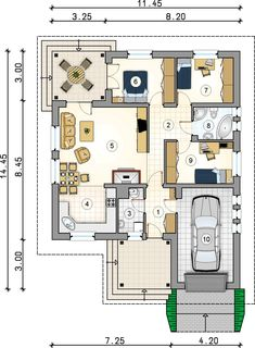 Building A House Quotes Funny Key: 8244874690 Bungalow House Plans, Bungalow House Design, Bedroom House Plans, Dream House Plans, Small House Plans, House Floor Plans, Minimalist House Design, Modern House Design, Simple Floor Plans
