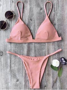 Shop trendy fashion swimwear online, you can get sexy bikinis, swimsuits & bathing suits for women on ZAFUL. Modest Swimsuits, Cute Swimsuits, Cute Bikinis, Pink Bikini, Bikini Swimwear, Thong Bikini, Bikini String, Bikini Types, Bikini Outfits