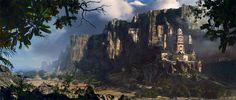 Fantasy Landscape with Castle | Wallpaper Art Digital Fantasy Image Castle Pictures