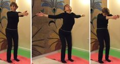Simple Postural Exercise to Re-align Pelvis and Ribcage. It is somewhat similar to yoga's Cats and Dogs, but is a standing position.