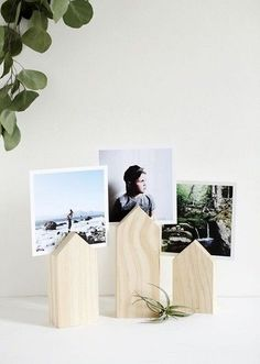 DIY House Photo Display - DIY Stocking Stuffers Your Family Members Will Actually Like - Photos