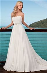Beautiful Chiffon wedding dress for $129.00! They have beautiful dresses for all occasions on this site and they are very cheap!
