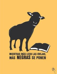 Cuanto más leen las ovejas, más negras se vuelven