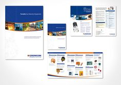 Brochure Design & Sales Collateral Design  The brief was to refresh the existing collateral for Crowcon. This was achieved by using the existing assets and addressing their relationship on the page. The existing corporate colour were retained along with the corporate typeface. A curve was introduced with images embedded inside. This gave design flexibility across adverts, brochures, websites and emails designs.