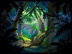 Jungle Path by Derek McCaughan on ArtStation. Cartoon Background, Paint Background, Animation Background, Environment Concept, Environment Design, Fantasy Landscape, Landscape Art, Jungle Illustration, Jungle Art