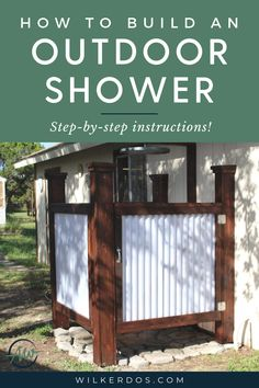 Do you have a little bare footed hippy inside you? Do you love being outdoors and among Mother Nature? If so, this outdoor shower project may be an ideal build for your back yard to bring both of those elements together while keeping it modest and attractive looking.