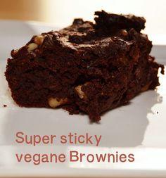 Super sticky vegan brownies