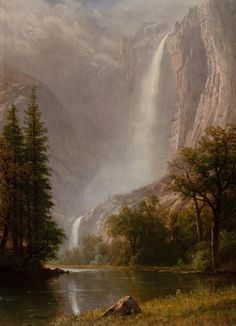 The Athenaeum - Yosemite Falls (Albert Bierstadt - )