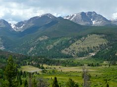 view toward Fall River Road and Horseshoe Park ~~ Rocky Mountain National Park