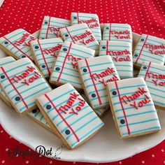 Notebook Paper Thank You Sugar Cookies