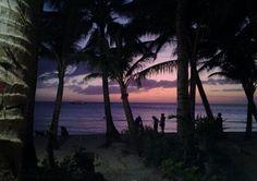 The purple beach.