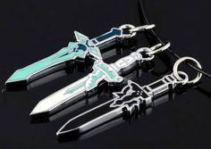 Sword Art Online Kirito and Asura Sword Necklace