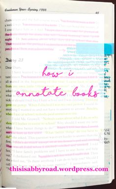 Although it is time consuming and hard to stick with, annotating my books for class is one of the most useful things I have learned to do in high school. Annotating has caused me to pay more atten… College Note Taking, College Notes, College Tips, Summer Checklist, Study Tips, Study Hacks, Book Annotation, Ap Literature, Pretty Notes