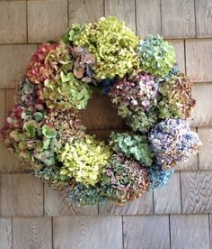 Fall Craftiness: Hydrangea Wreath