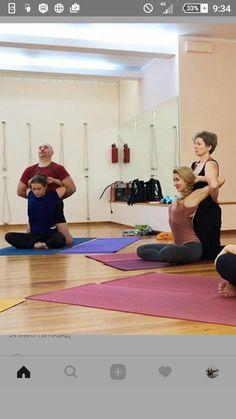 Yoga shirts tanks tops gear and accessories. by GreaterThanYogaGear Partner Yoga, Kundalini Yoga Poses, Yoga Shoulder, Thai Yoga Massage, Yoga Lessons, Yoga Props, Advanced Yoga, Iyengar Yoga, Yoga Teacher Training