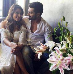 Bipasha Basu and Karan Singh Grover posing. #Bollywood #Fashion #Style #Beauty #Hot #Sexy