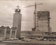 The car park on the roof of the retail market in the early Coventry England, Photographs And Memories, Car Parking, Cn Tower, Rooftop, Pictures, Clock, Retail, Cars
