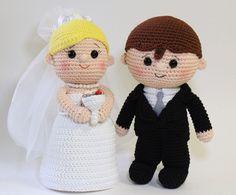 Crochet Amigurumi Wedding Dolls by Cranberries Knot on Etsy