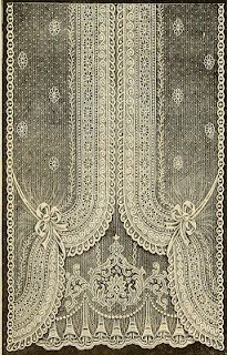 Nottingham Lace Curtain, 1912 - my grandfather worked in the Lace Market, such a shame that so few manufacturers of this beautiful material are left in the area now.