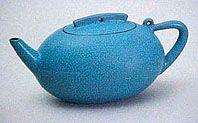 Yixing Turquoise Cosmic Egg teapot. @Deidré Wallace