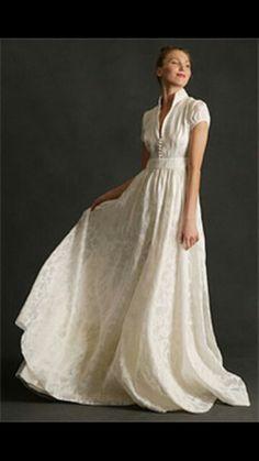Unique Shirt Dress Wedding Gown