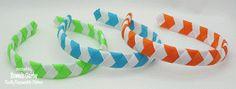 Chevron Woven Ribbon Headband Tutorial