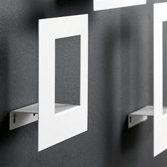 Frame Wide shelf - white - Scandinavian Design Factory