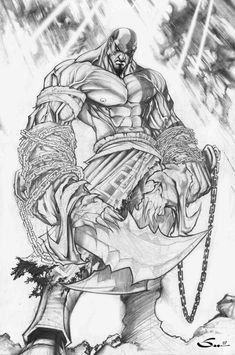 God of War by Sandoval-Art on DeviantArt Comic Books Art, Comic Art, Book Art, Drawing Sketches, Art Drawings, Madara Susanoo, Wings Sketch, Arte Do Kawaii, Kratos God Of War