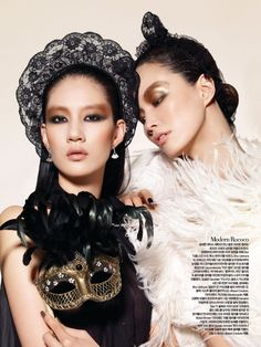 Masquerade Beauty Harper's Bazaar Korea December 2010  ...mas make up!