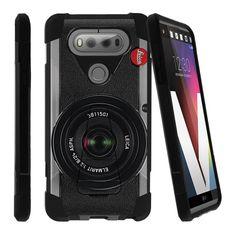 Case for V20, LG V20 Case[SHOCK FUSION] Shockproof Hybrid Kickstand Case with Kickstand by Miniturtle® - Retro Camera Lg Phone, Phone Cases, Lg V20, Retro Camera, Smartphone, Jewelry, Jewlery, Jewerly, Schmuck