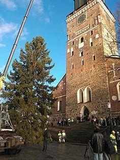 Tuomiokirkon joulukuusi on nyt paikoillaan! http://www.turku.fi/public/default.aspx?contentid=479467&nodeid=9263 Matka Turkuun kruunataan jouluisella hotelliaamiasella :) http://www.radissonblu.fi/hotelli-turku