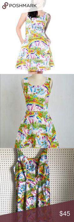 dc369f8ddbb7e ModCloth Rare-Retrolicious Rainbow Unicorn Dress If this doesn't sell, I'