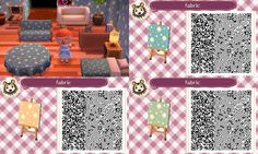Assorted wallpaper/furniture pattern QR codes (acnewleafdesigns)  Full codes at source.