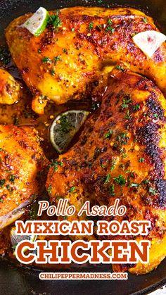 Spicy Recipes, Healthy Chicken Recipes, Turkey Recipes, Mexican Food Recipes, Great Recipes, Dinner Recipes, Cooking Recipes, Favorite Recipes, Pollo Asado Recipe