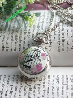 Pretty stainless steel bird cage with pink by toofashion2010, $6.99