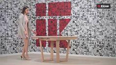 Easy to open - T53 table, solid wood construction. Rozkładanie stołu T53, wersja nogi W #woodentable #dinningroom #Klosefurniture