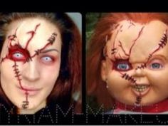 Halloween Chucky special effects makeup | Halloween Chucky makeup ...
