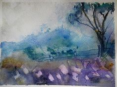 Watercolor The Cemetery by doppler07