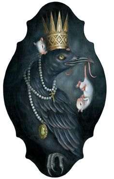 A website of paintings by Hanna Jaeun, a Brooklyn base artist. Raven Art, Crows Ravens, Lowbrow Art, Happy Animals, Fantastic Art, Dark Art, Art Forms, Illustrators, Cool Art