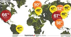 Earlier this year, Dutch company TomTom(TOM2) released a detailed report that uncovered the cities around theworld *that have the most traffic...
