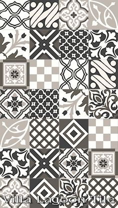 """Patchwork Evening"" Cement Tile - wheeee. $6.90 per tile, 12 tiles per box covers 5.22 sq ft. so $15.86 a sq ft. aaghh. plus shipping. that hurts."