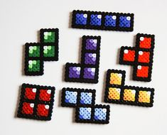 Tetris Hama Perler Bead Sprite Magnets
